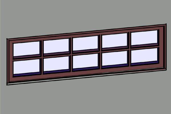 object 5x2 wood transom windows