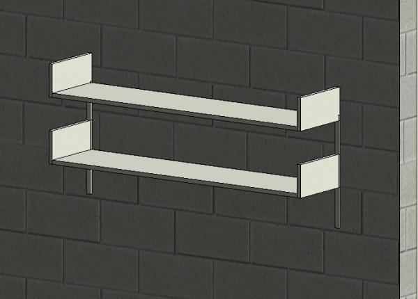 Metal Wall Mounted Shelf / Shelves