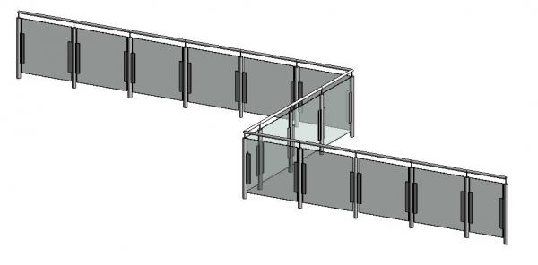 revit how to add railing to landing