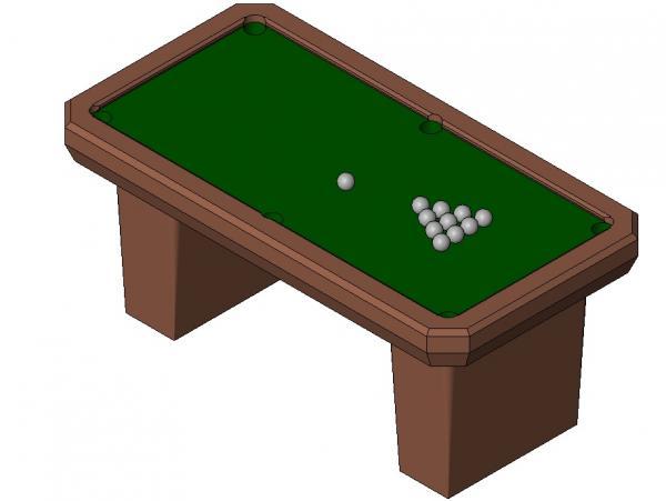 RevitCitycom Object Pool Table - Revit pool table