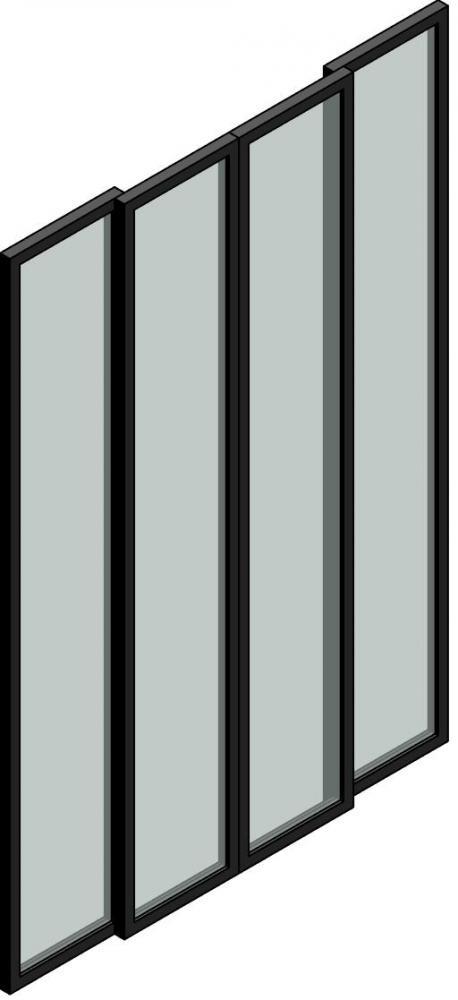 4 Panel Double Sliding Door   Curtain Wall