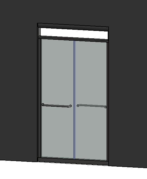 RevitCity com | Object | Double - Sliding Glass Shower door (3'-6