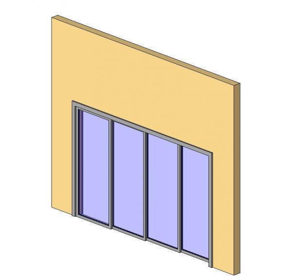 4 Panel Sliding Door