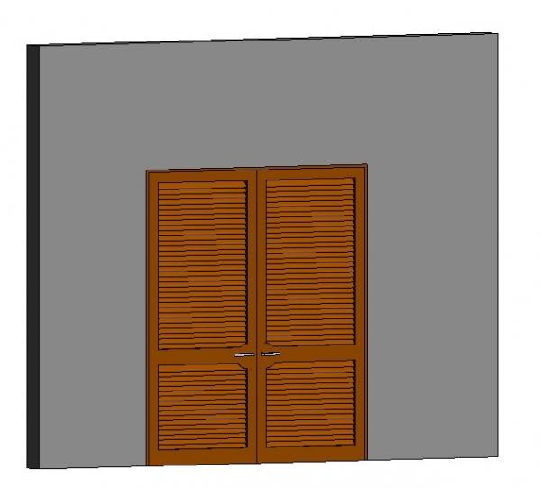2 Door and Louvers ( Wall 220mm)