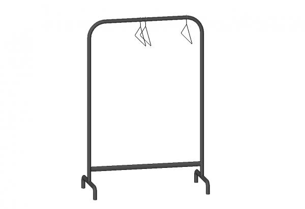 Ikea - Mulig Clothes Rack With Hangers