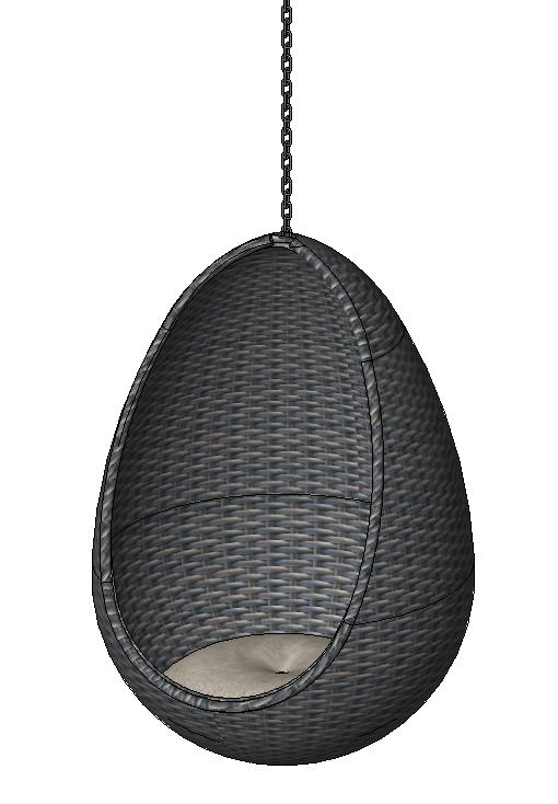 RevitCity com | Object | Hanging Egg Wicker Chair (Seat)