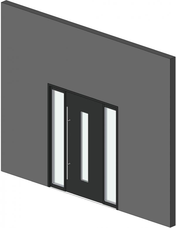 RevitCity com   Object   Parametric Front Entry Door With