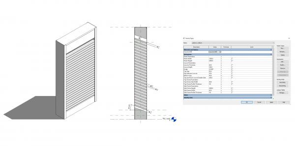 Acoustic Louvres Panel (Generic)