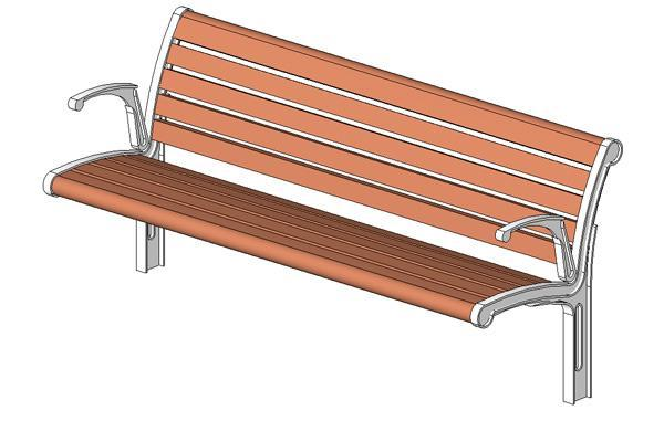 Object park bench for Outdoor furniture revit