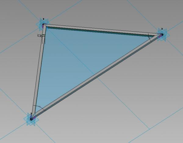 Adaptive Triangular curtain panel