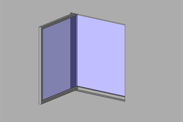 object corner window
