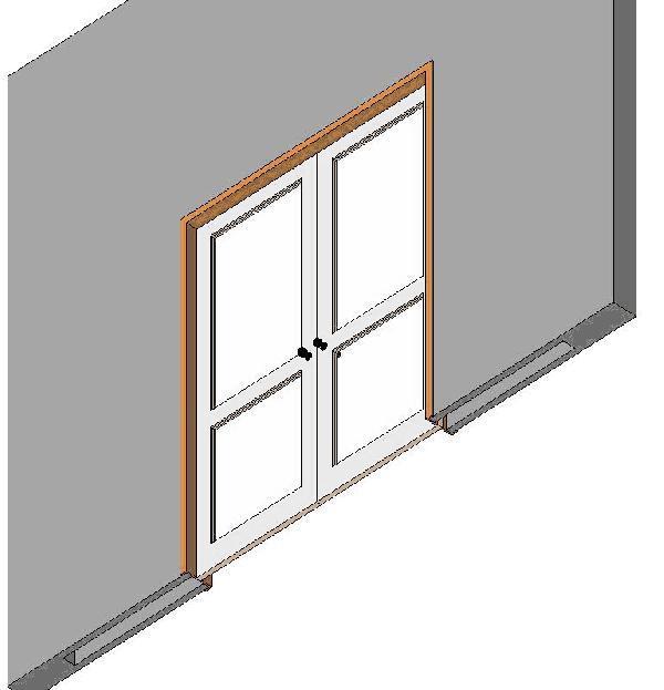 Double Pocket Door With Glass