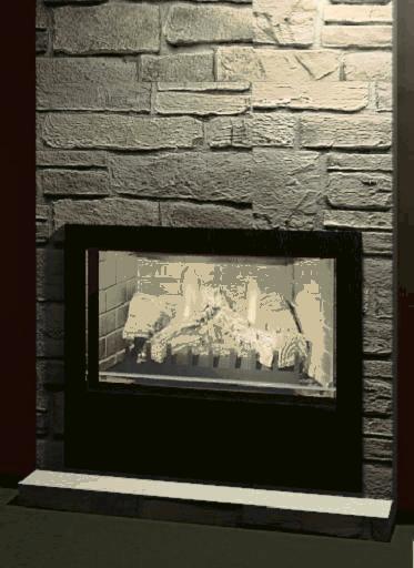 revitcity object gas fireplace insert type sized