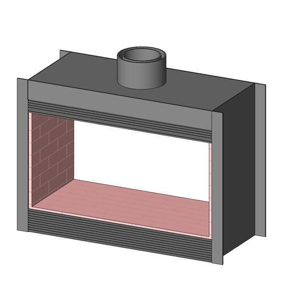 revitcity com object double sided fireplace