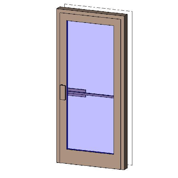 Revitcity Object Single Exterior Aluminum Door