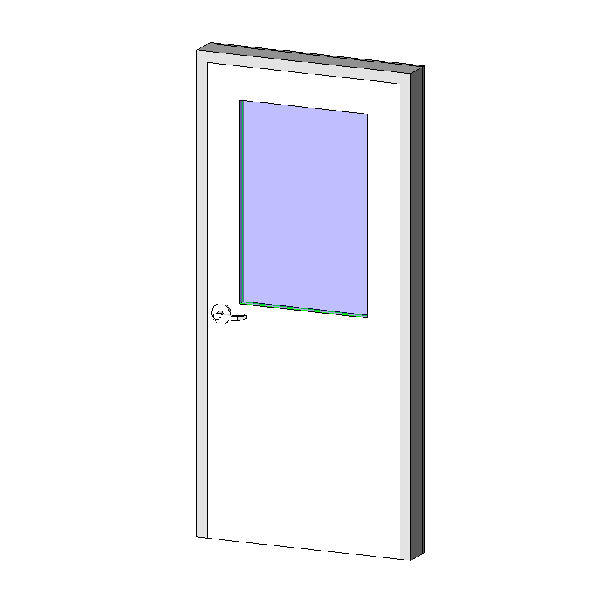 Revitcity Object Hm Frame Door Exterior Single With Half Lite