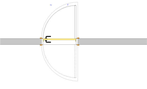 2 way swing door