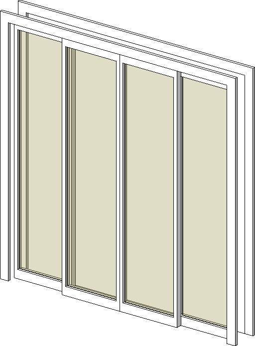 Revitcity Com Object 4 Pane Sliding Glass Door