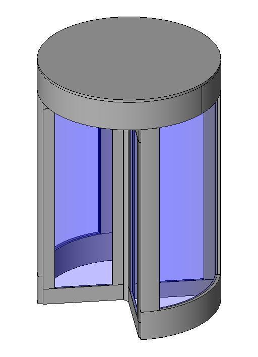 Revolving Door (for Curtain Wall Panel)  sc 1 st  RevitCity.com & RevitCity.com | Object | Revolving Door (for Curtain Wall Panel)