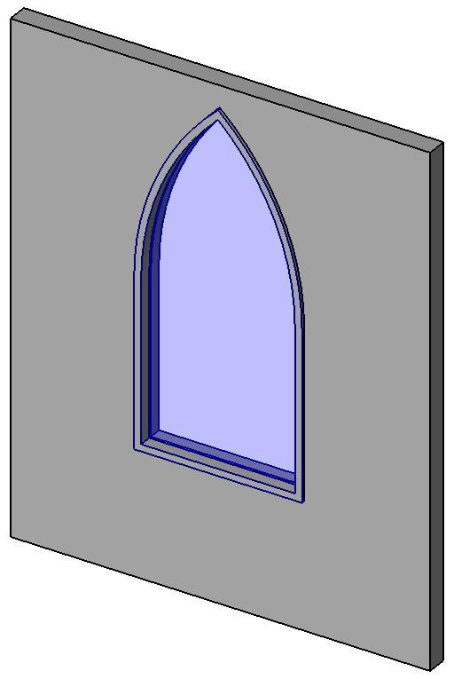 Object arched window window family for Window object