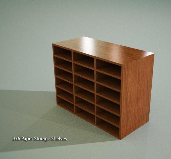 Paper Storage Shelves 3x6 (Casework) & RevitCity.com | Object | Paper Storage Shelves 3x6 (Casework)