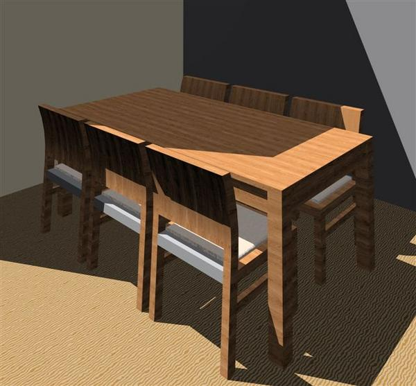 Revitcity Com Object Dining Table And Chairs