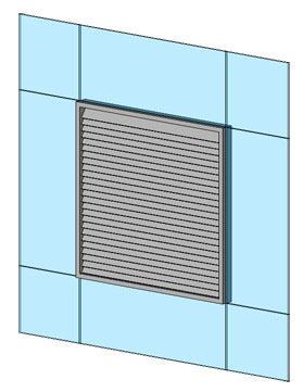 Revitcity Com Object A Parametric Curtain Panel Louver
