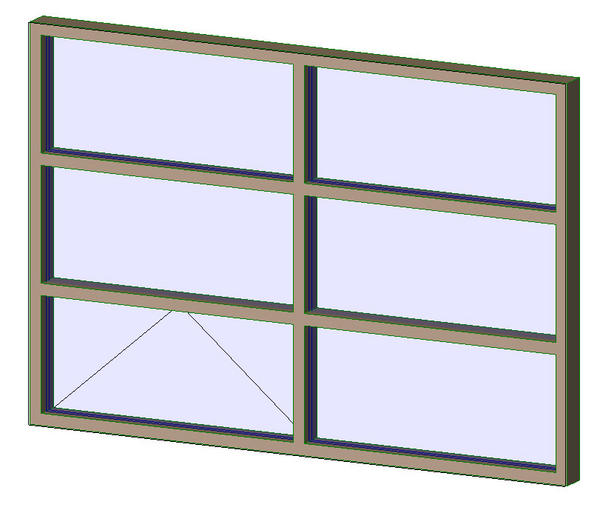 Object aluminum exterior window 2x3 for Operable awning windows