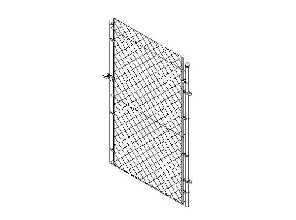 RevitCity com | Object | chain link fence gate