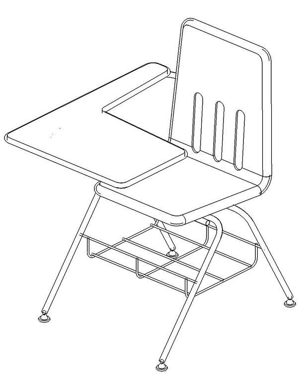 Revitcity Com Object Student Desk Virco 9700br