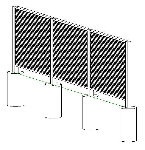 RevitCity com   Object   Fence with louver screen panels