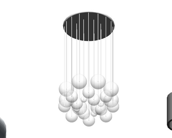 Revitcity Com Object Bubble Chandelier Light Fixture