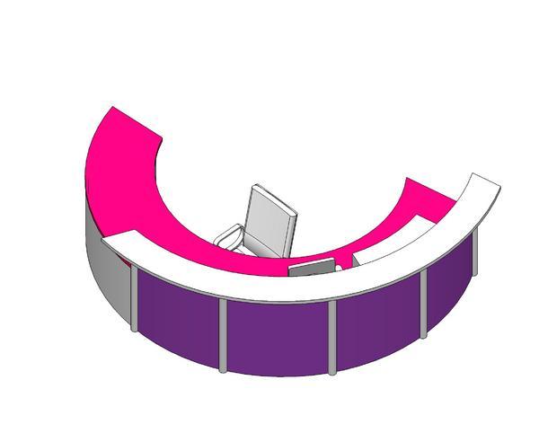 Custom Circular Reception Counter Desk