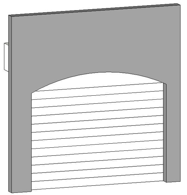 Arched Overhead/ Garage Door.