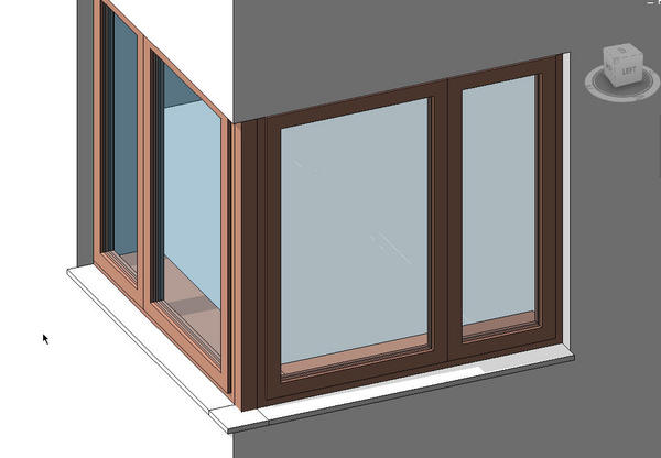 corner window from two simple