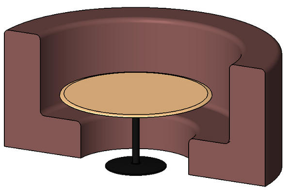 Revitcity object round seating booth