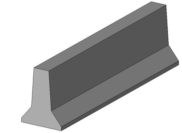 Object Jersey Barrier Wall