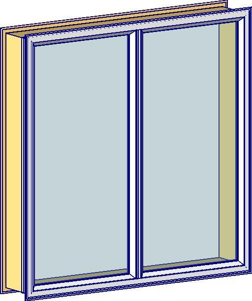 40mm Double Fixed Window - Even