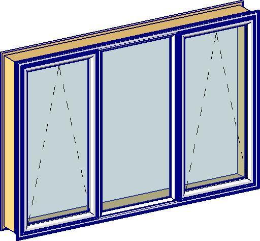 Revitcity Com Object 40mm Triple Casement Window