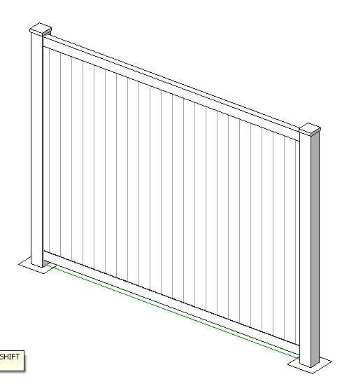 RevitCity com   Object   White Vinyl Fencing