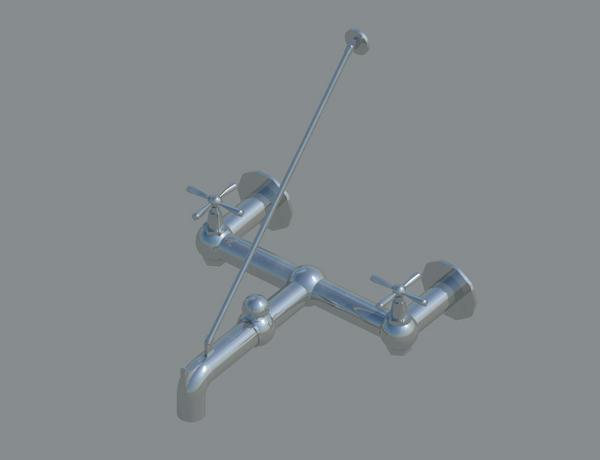 Mop Sink Faucet Height : Generic Mop Sink Faucet. 3d Fine and 2D medium and coarse ...