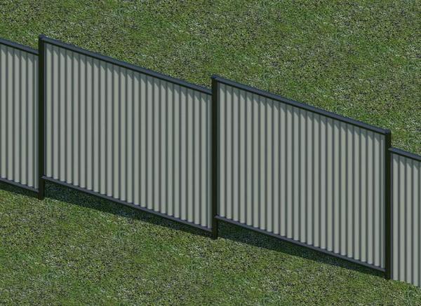 Revitcity Com Object Colorbond Fence Parametric