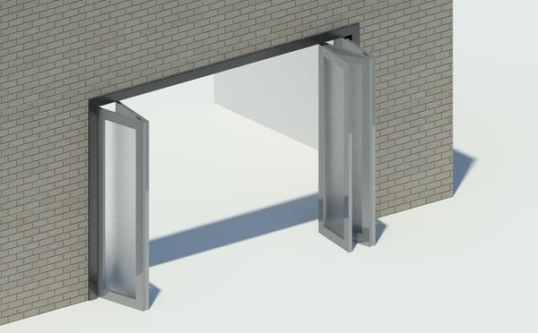 "Standard aluminum sliding doors, 2, 3 or 4-panels, 5' 0"" to 16' 0."