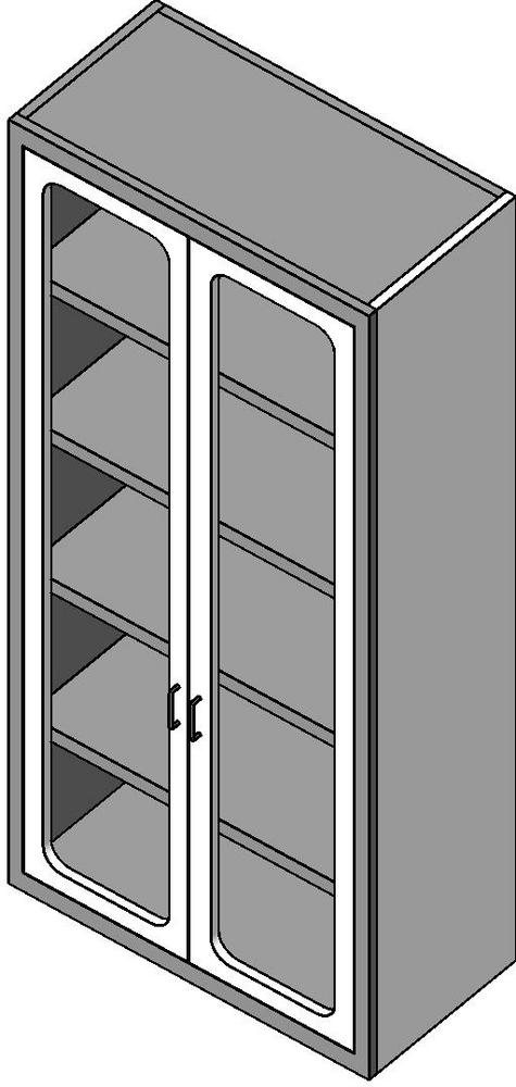 Revitcity Object Tall Storage Cabinet With Glass Doors