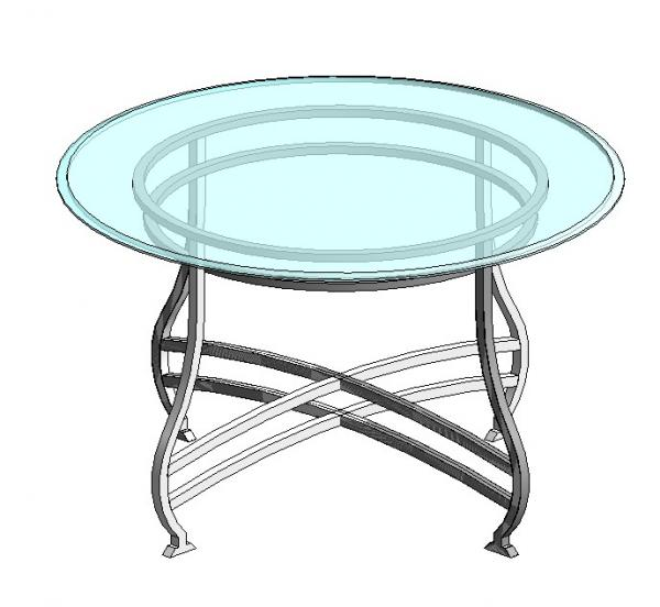 RevitCitycom Object Dining Table Round Glass Top  : 9316 from www.revitcity.com size 600 x 552 jpeg 33kB